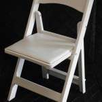Chair White Padded Garden