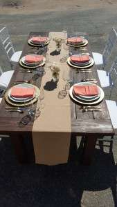 Farm Table W White Chiavari