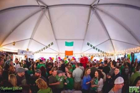 Beer tent for st patrick's day at Nathan Bills in Springfield MA