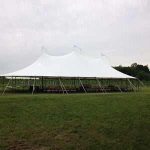 Stillwater tent at Glendale Ridge Vineyard for a wedding