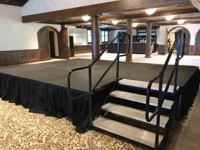 stage rental at GreatHorse Country Club