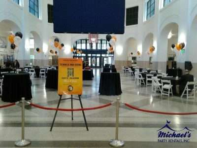 Tables, chairs and linen rentals to Union Station in Springfield MA