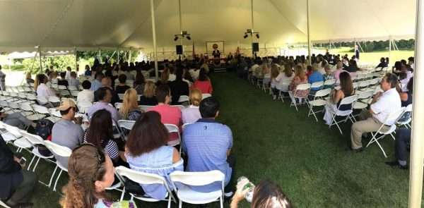 chair and stage rental for WMA's convocation in wilbraham ma