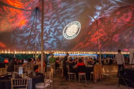 60x70 century tent setup at berkshire hills music academy in south hadley ma