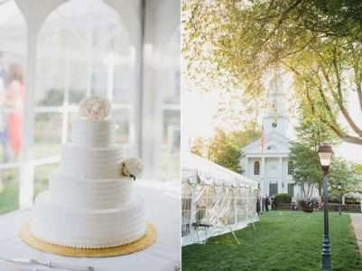 Tented wedding at the Storrowton Tavern in West Springfield