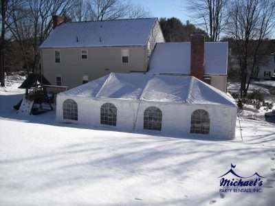 The Aluminum Frame Tent Is Set Up For Wedding Party White Fabric With Transpa Windows Cover Of
