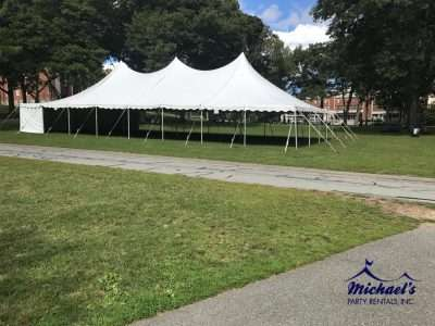 Tent at Amherst College's Freshman Quad