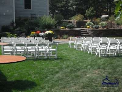 Chair rental and setup