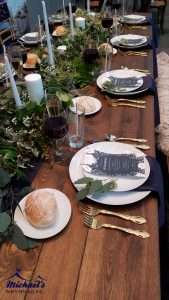 Farm Table wedding tablescape at the Western New England Fall Bridal Show