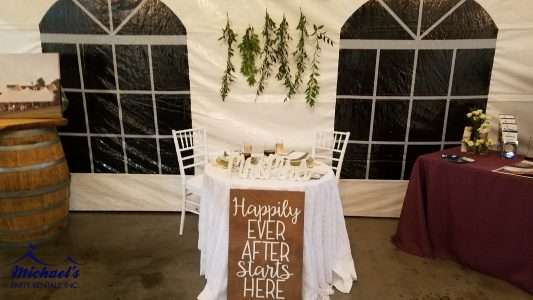 Chiavari Chair and Party Rentals: Woodsy inspired tablescape at the Western New England Bridal Show