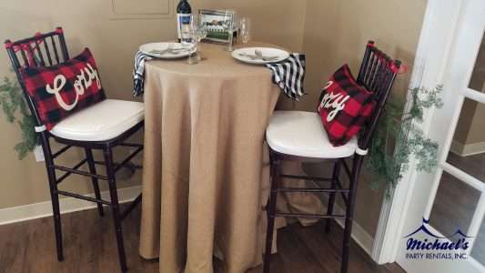 buffalo plaid holiday tablescape rentals MA