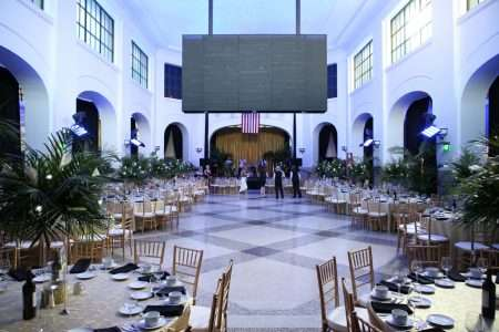 Chiavari Chair and Party Rental Equipment for the grand opening of Union Station in Springfield MA