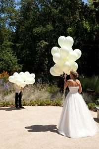 Balloon decor at a wedding. Helium tank rentals western MA