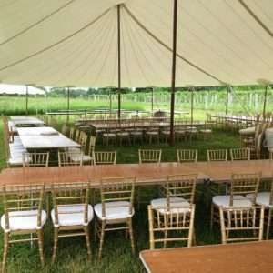 Stillwater tent at Glendale Ridge Vineyard for a wedding