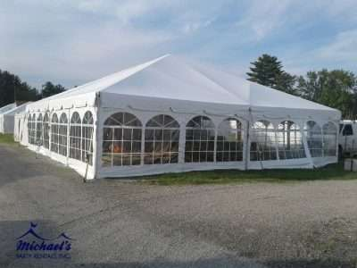 Large Frame Tent at Brimfield Antique Show