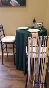 cocktail tables with bar stools for rent