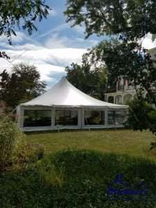 tented wedding at amherst women's club