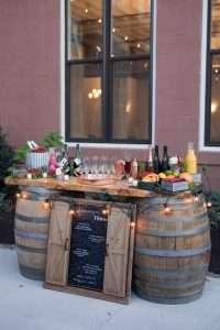 Wine barrel plank bar rentals western ma