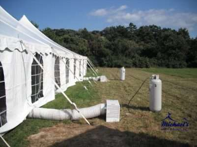 Heated tent rentals in MA