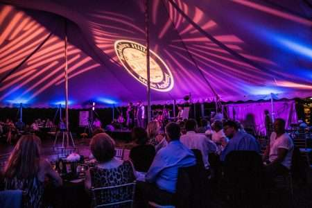 Tents setup for Fabulous Fifty Fundraiser at Berkshire Hills Music Academy