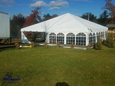 Event tent at Sullivan park in Springfield MA