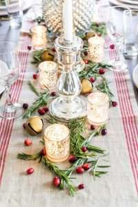 DIY Holiday Table Runner. Holiday party rentals Western MA