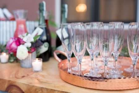 Champagne glass rentals NYE or holiday party