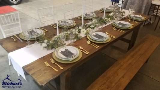 Wedding and farm table rentals near Springfield, MA
