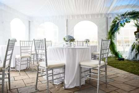 Once Upon Time Gala with Colin Cowie- Silver chiavari rental Holyoke MA